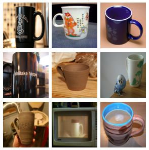 ImageNet sample coffee mug images