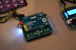 Badge is an arduino shield