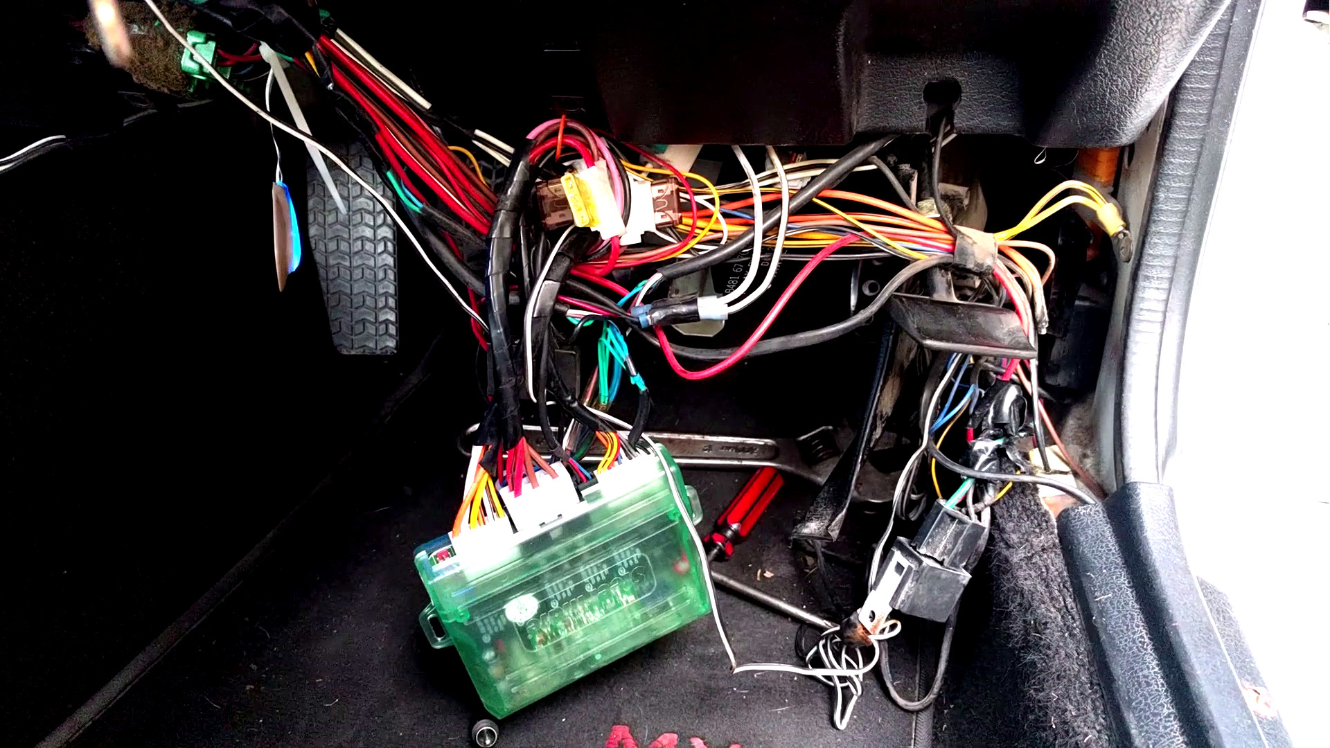 the bane of aftermarket car alarms hackaday crazy wiring on cars [ 1920 x 1080 Pixel ]