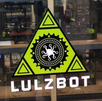 Lulzbot logo on printer node door