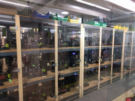 155 node 3D printer room