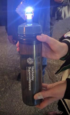 [Sarah Petkus] and her stun gun water bottle