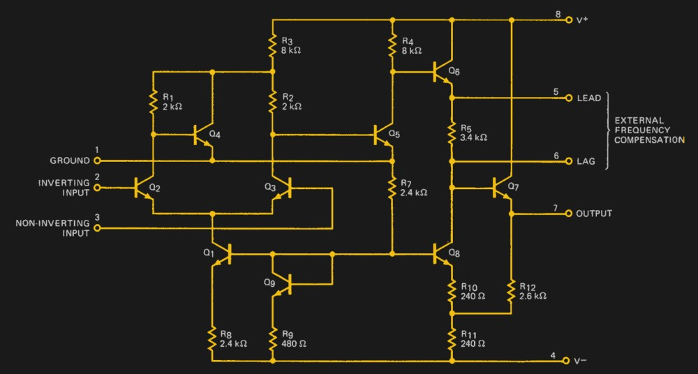 medium resolution of the a702 s internal circuit as shown on its data sheet