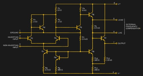 small resolution of the a702 s internal circuit as shown on its data sheet