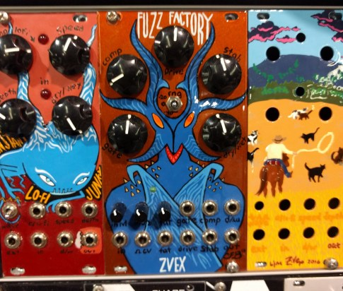 Handpainted Eurorack modules from Zvex