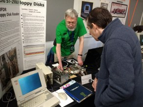 David Wiens came down from Canada to talk about recovering data from old ST-2900 floppies.