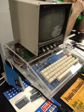 Nothing says retro like perf board and a Plexiglas case.
