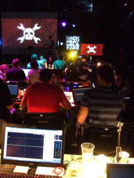 What is better than hacking to live music?