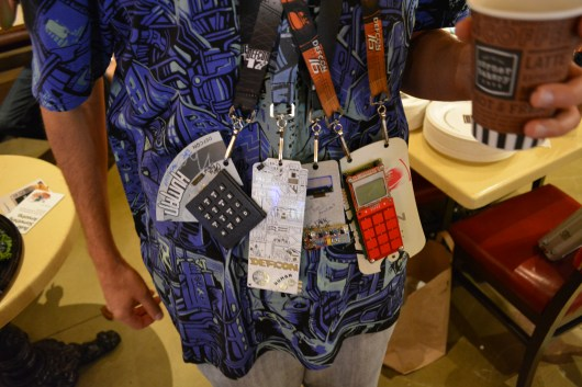Badges of DEF CON past