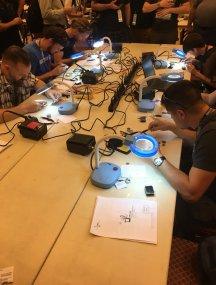 SMD soldering challenge under way