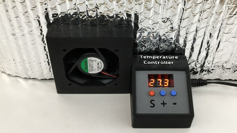 Temperature Controlled Fan Picmicrolab