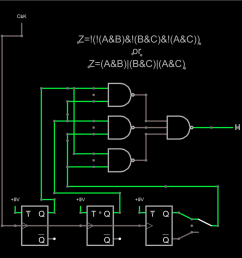 consider the circuit shown above the output should be the vote of the three flip flops the switch to the right lets you inject a failure by selecting the  [ 1449 x 1420 Pixel ]