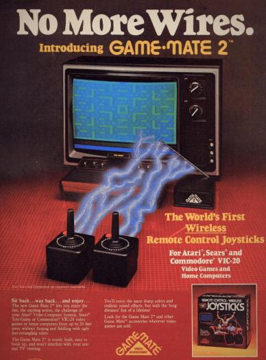 Game Mate 2 Wireless Joysticks 1983