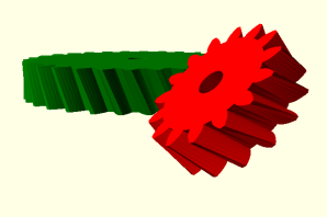 Designing crossed helical gears