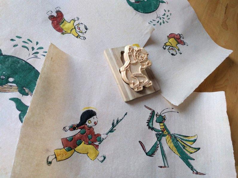 Block printing kits for kids