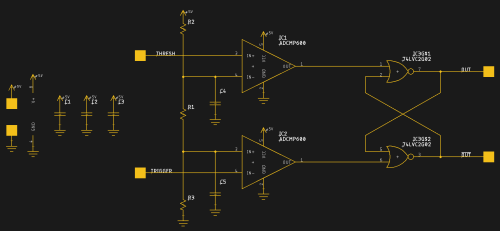 small resolution of looking microchip s reduced functionality timer offerings i wondered what you could do if you built a 555 like circuit from other parts the idea isn t