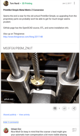 Original post on G+