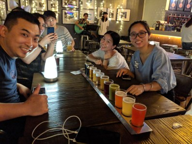 Eric Pan, Lily, and Violet took us to a craft beer place