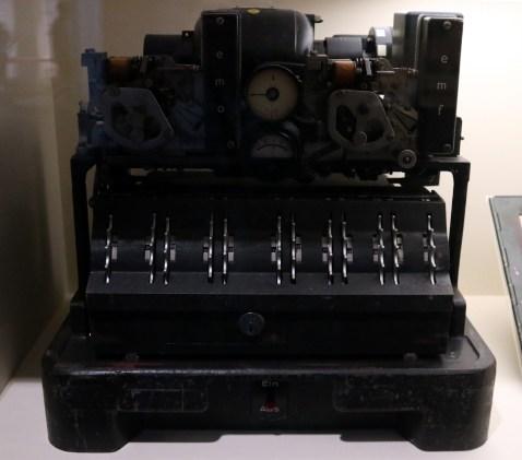 The Lorenz cypher machine.