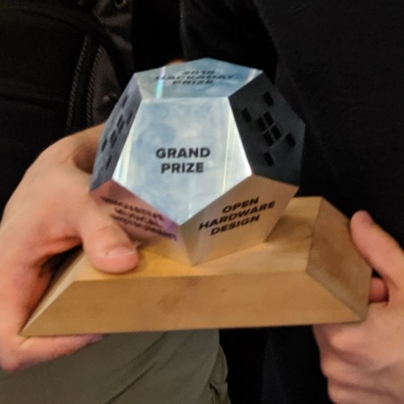 2018 Hackaday Prize trophy
