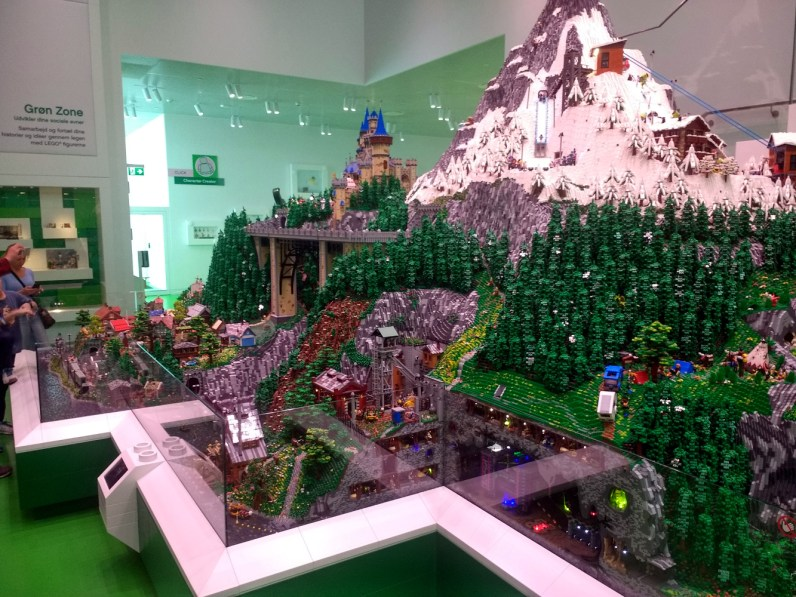 One of many impressive Lego scenes in the building.