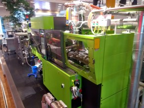 The injection moulding machine.