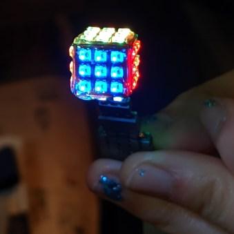 Artistic LED Cube shot