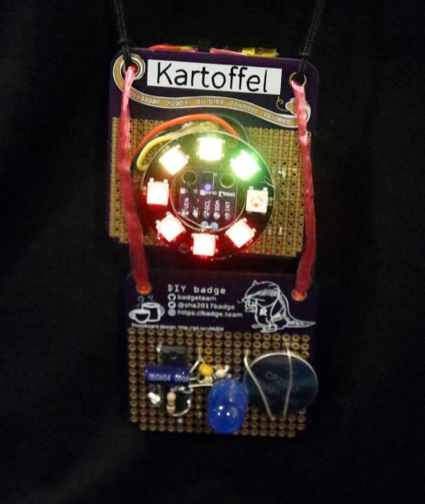 Kartoffel evidently wasn't satisfied with just one badge!
