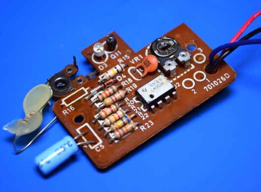 Clearly the variable resistor was an afterthought.