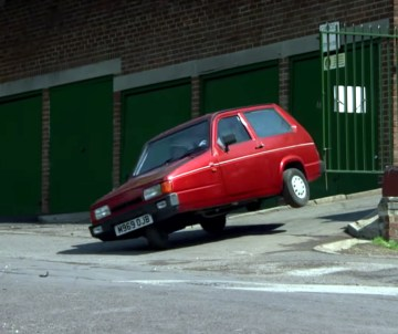 The BBC Top Gear Reliant Robin modified to roll at low speeds.