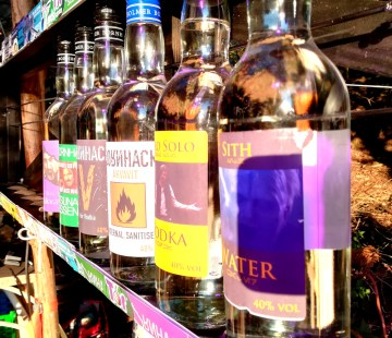A BornHack tradition comes in specially made spirits from a distillery on Bornholm.