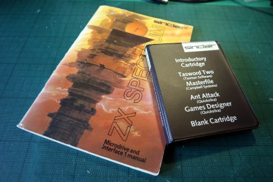 The Microdrive manual and sample software set.