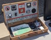 A vintage electronics experimentation kit.