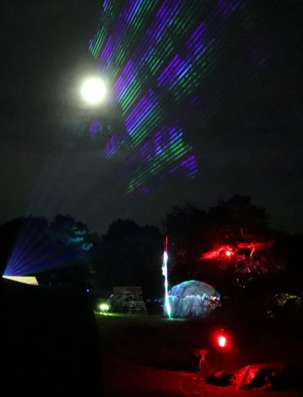 Lasers and the moon made for a great shot after a lot of trying.