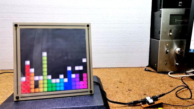 FFT display on 16x16 RGB LED grid