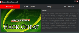Game Soccer Stars hack tool 2014