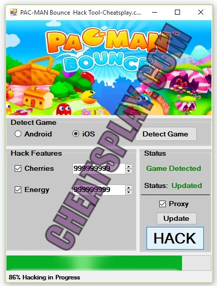 PAC-MAN Bounce Hack Tool