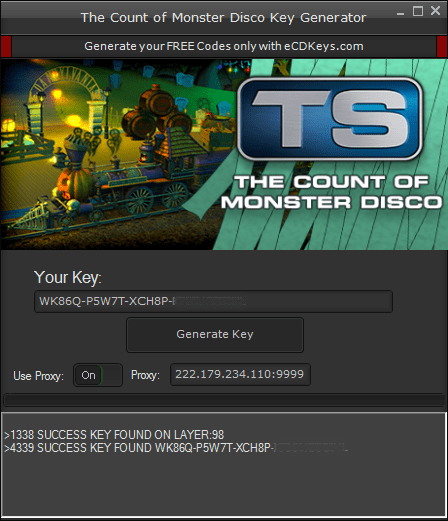 The Count of Monster Disco CD-Key | FREE Activation Code KEYGEN