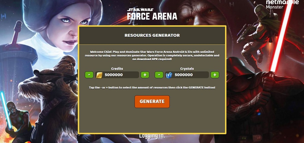 Star Wars Force Arena Hack Crystals and Credits - Free Game Cheats