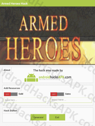 Armed Heroes Hack APK Gold and Gems