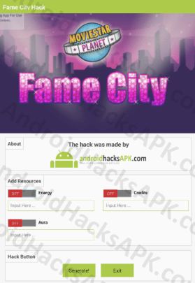 Fame City Hack APK Energy, Credits and Aura