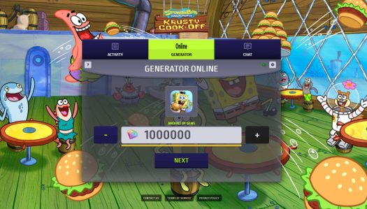 SpongeBob Krusty Cook Off Hack Cheat