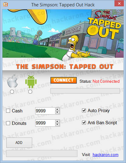 The Simpsons Tapped Out hack free dnuts generator cash