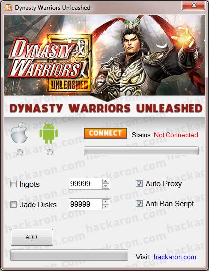 Dynasty Warriors Unleashed – Get free Ingots & Jade Disks hack free download how to get.jpg