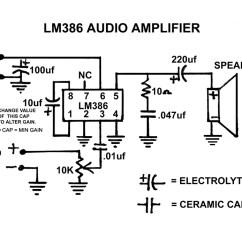 Wiring Diagram For Guitar Jack Bosch Map Sensor The 1/2 Watt Lm386 Audio Amplifier | Hack A Week