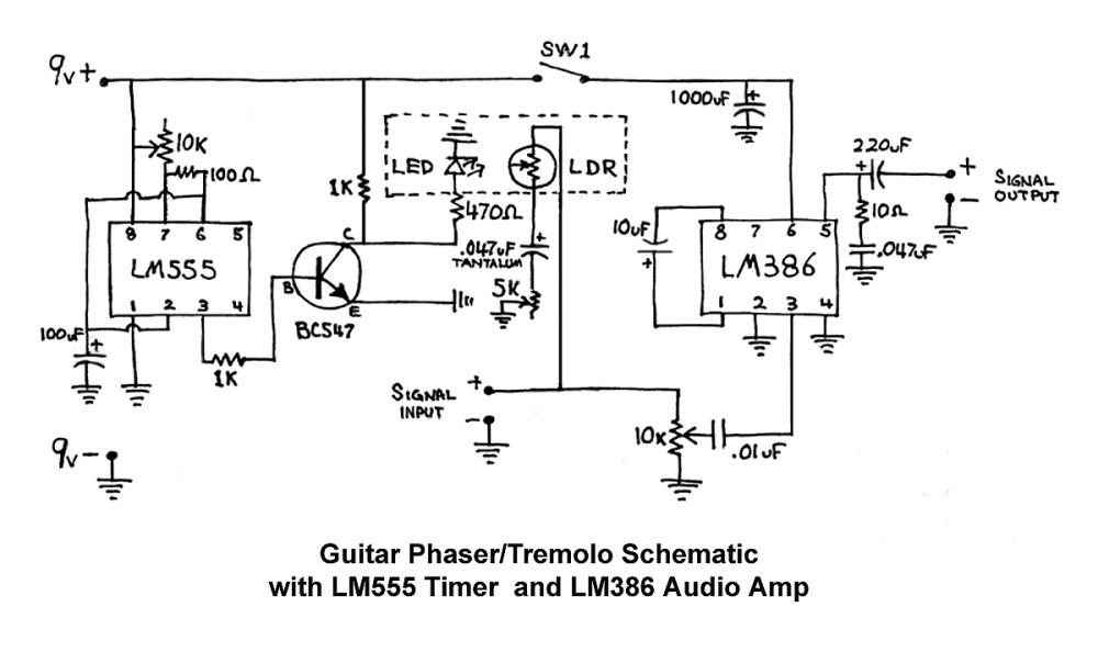 medium resolution of tremolo guitar pedal wiring diagram simple wiring schema simple wiring diagrams the guitar phaser tremolo effects