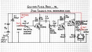 Guitar Fuzz Schematic | HACK A WEEK