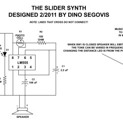 555 Timer Wiring Diagram Kenwood Radio Ear Mic The Slider Synth Hack A Week