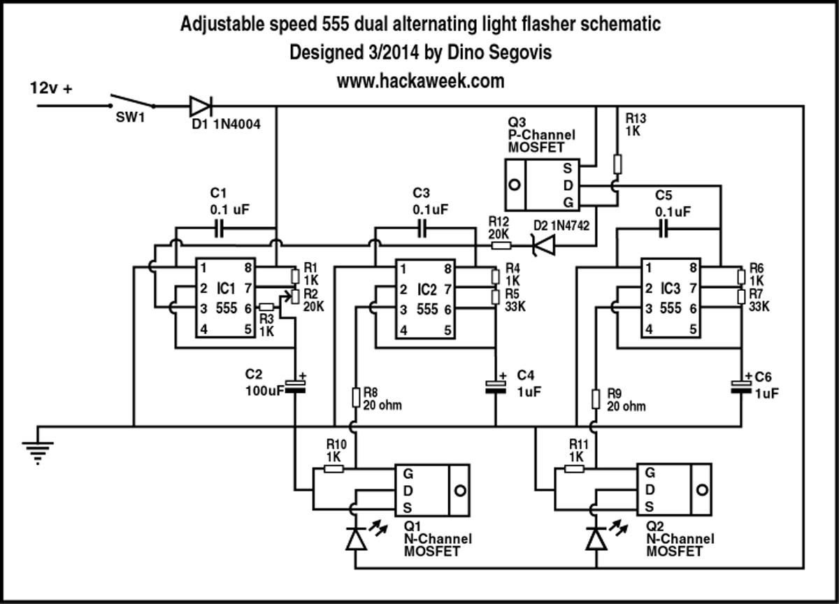 light bar wiring diagram human brain cell diy emergency vehicle flasher part 3 | hack a week