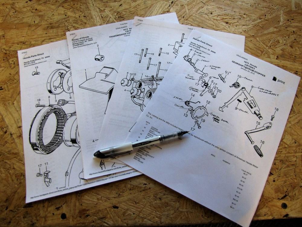 medium resolution of cb750 parts diagram shifter assembly